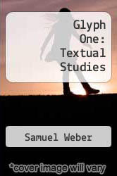 Cover of Glyph One: Textual Studies EDITIONDESC (ISBN 978-0801819315)
