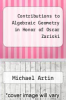 cover of Contributions to Algebraic Geometry in Honor of Oscar Zariski