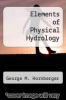 cover of Elements of Physical Hydrology (1st edition)
