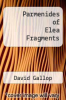cover of Parmenides of Elea Fragments