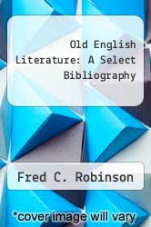 Cover of Old English Literature: A Select Bibliography EDITIONDESC (ISBN 978-0802040268)