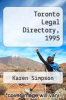 cover of Toronto Legal Directory, 1995 ( edition)