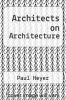 cover of Architects on Architecture