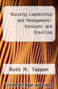 cover of Nursing Leadership and Management: Concepts and Practice (3rd edition)