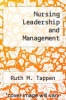 cover of Nursing Leadership and Management (4th edition)