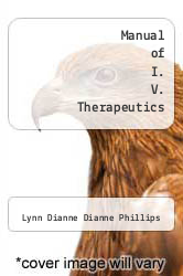 Cover of Manual of I. V. Therapeutics 4 (ISBN 978-0803613683)
