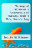 cover of Package of Wilkinson`s Fundamentals of Nursing, Taber`s 21/e, Davis`s Drug Guide for Nurses, 11/e, and Comp. Hbk of Lab/Diagnostic Tests, 3/e Comprehensive Handbook of Lab and Diagnostic Tests 3rd Ed