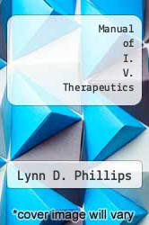 Cover of Manual of I. V. Therapeutics 1 (ISBN 978-0803669116)