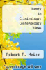 cover of Theory in Criminology: Contemporary Views
