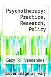 Cover of Psychotherapy: Practice, Research, Policy EDITIONDESC (ISBN 978-0803915374)