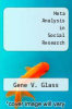 cover of Meta Analysis in Social Research