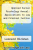 cover of Applied Social Psychology Annual: Applications to Law and Criminal Justice
