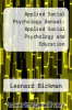 cover of Applied Social Psychology Annual: Applied Social Psychology and Education