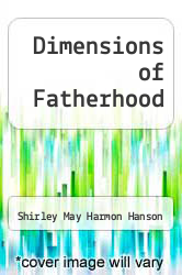 Cover of Dimensions of Fatherhood EDITIONDESC (ISBN 978-0803924222)