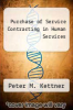 cover of Purchase of Service Contracting in Human Services