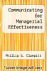 cover of Communicating for Managerial Effectiveness (2nd edition)