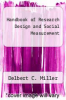 cover of Handbook of Research Design and Social Measurement (5th edition)