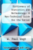 cover of Dictionary of Statistics and Methodology: A Non-Technical Guide for the Social Sciences (2nd edition)