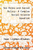 cover of Sex Roles and Social Policy: A Complex Social Science Equation