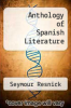 cover of Anthology of Spanish Literature