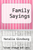 cover of Family Sayings (18th edition)
