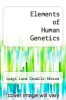 cover of Elements of Human Genetics (2nd edition)
