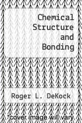 Cover of Chemical Structure and Bonding EDITIONDESC (ISBN 978-0805323108)