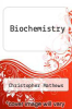 cover of Biochemistry