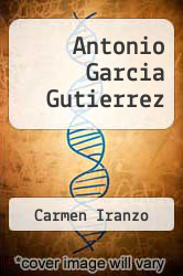 Cover of Antonio Garcia Gutierrez EDITIONDESC (ISBN 978-0805764079)