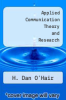 cover of Applied Communication Theory and Research