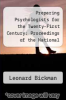 cover of Preparing Psychologists for the Twenty-First Century: Proceedings of the National Conference on Graduate Education in Psychology