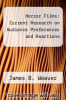 cover of Horror Films: Current Research on Audience Preferences and Reactions (1st edition)