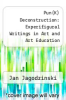 cover of Pun(K) Deconstruction: Experifigural Writings in Art and Art Education