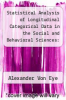 cover of Statistical Analysis of Longitudinal Categorical Data in the Social and Behavioral Sciences: An Introduction with Computer Illustrations