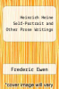 cover of Heinrich Heine Self-Portrait and Other Prose Writings