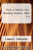 cover of From a Sabine Jar: Reading Horace, Odes 1.9