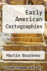 cover of Early American Cartographies