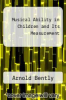 cover of Musical Ability in Children and Its Measurement