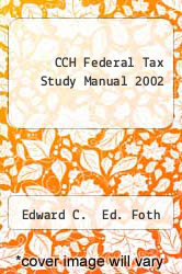 Cover of CCH Federal Tax Study Manual 2002 01 (ISBN 978-0808006411)