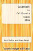 cover of Guidebook to California Taxes 2004