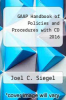 cover of GAAP Handbook of Policies and Procedures with CD 2016