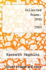 cover of Collected Poems: 1935 - 1965