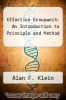 cover of Effective Groupwork: An Introduction to Principle and Method