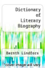 cover of Dictionary of Literary Biography