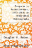 cover of Progress in Assertiveness, 1973-1983: An Analytical Bibliography