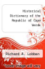 cover of Historical Dictionary of the Republic of Cape Verde (2nd edition)