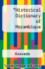 cover of Historical Dictionary of Mozambique (2nd edition)