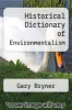cover of Historical Dictionary of Environmentalism