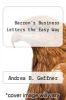 cover of Barron`s Business Letters the Easy Way