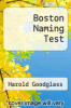 cover of Boston Naming Test